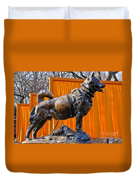 Statue Of Balto In Nyc Central Park Duvet Cover by Anthony Sacco