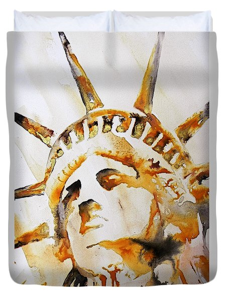 Statue Of Liberty Closeup Duvet Cover