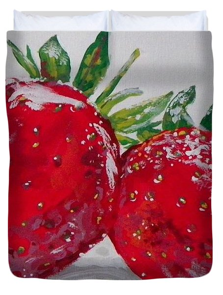 Stawberries Duvet Cover