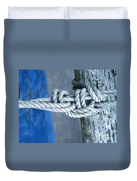 Duvet Cover featuring the photograph Stay by Brian Boyle