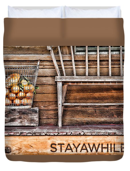 Stayawhile Duvet Cover by Diana Sainz