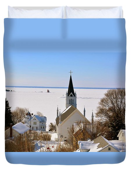 Ste. Anne's In Winter Duvet Cover