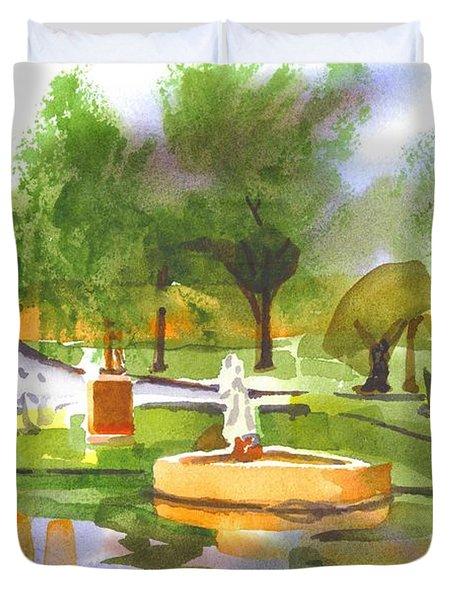 Ste Marie Du Lac In Watercolor II Duvet Cover