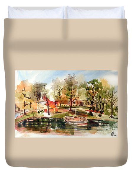 Ste. Marie Du Lac With Gazebo And Pond I Duvet Cover by Kip DeVore