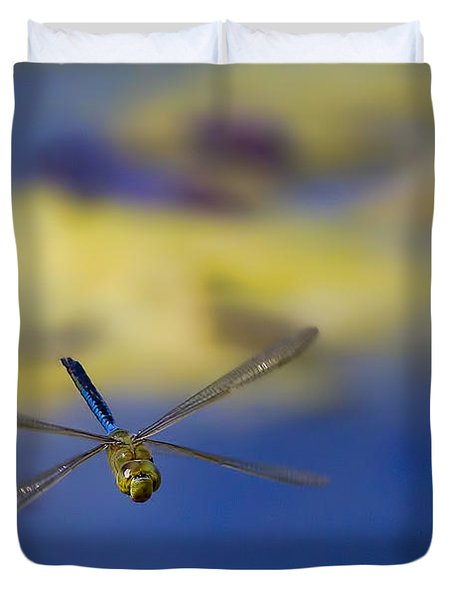 Duvet Cover featuring the photograph Stealth Chopper by Gary Holmes