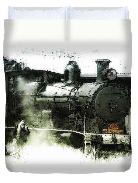 Duvet Cover featuring the photograph Steam 01 by Kevin Chippindall