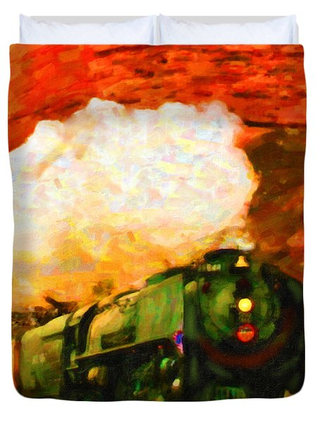 Steam And Sandstone Duvet Cover