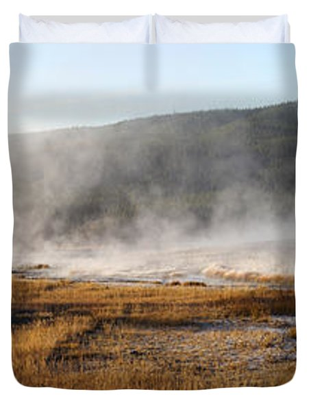 Duvet Cover featuring the photograph Steam Creek by David Andersen
