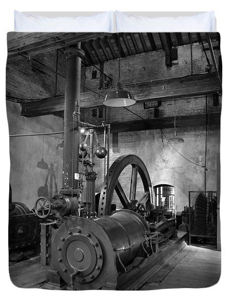 Steam Engine At Locke's Distillery Duvet Cover