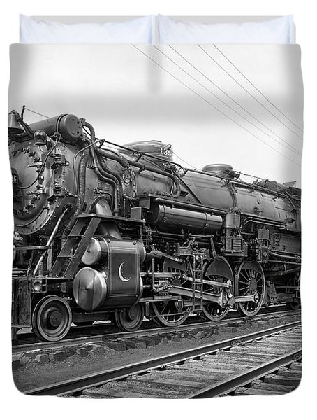 Steam Locomotive Crescent Limited C. 1927 Duvet Cover