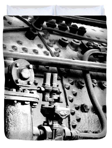 Steam Locomotive Train Detail II Duvet Cover