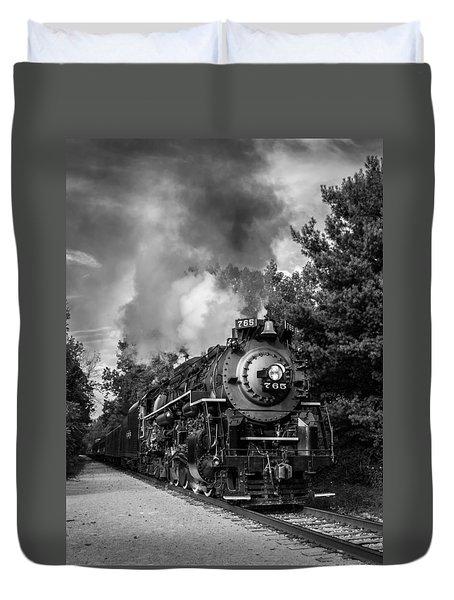 Steam On The Rails Duvet Cover