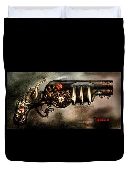 Steam Punk Pistol Mk II Duvet Cover