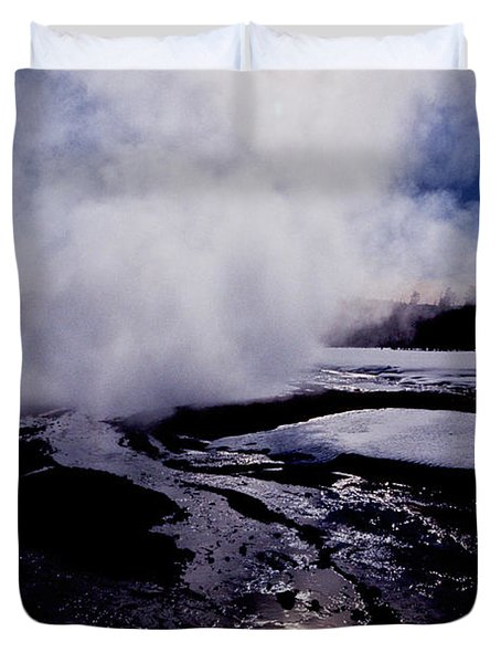 Duvet Cover featuring the photograph Steam by Sharon Elliott