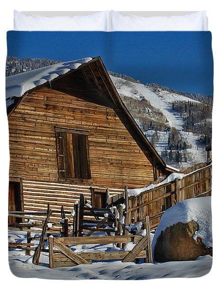 Steamboat Barn Duvet Cover