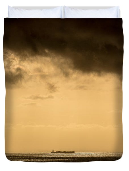 Steaming Thru The Sunrise Duvet Cover by Rene Triay Photography