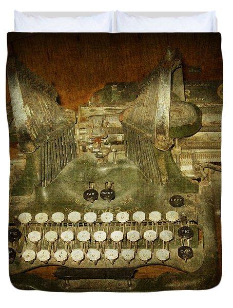 Steampunk Antique Typewriter Oliver Company Duvet Cover by Svetlana Novikova