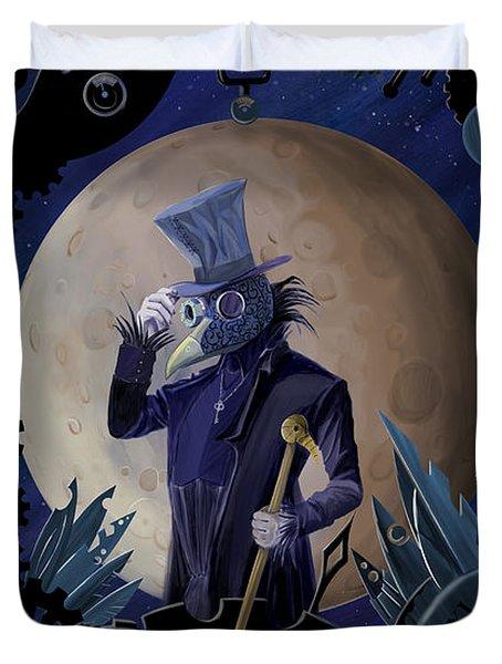 Steampunk Crownman Duvet Cover