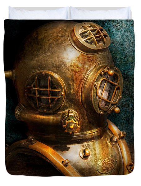 Steampunk - Diving - The Diving Helmet Duvet Cover