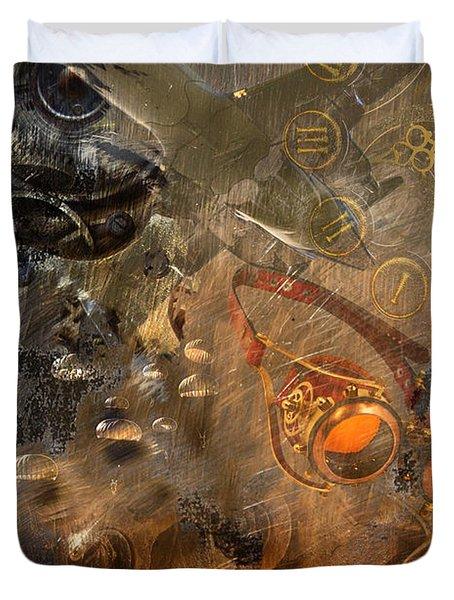 Duvet Cover featuring the photograph Steampunk Fantasy by Davina Washington