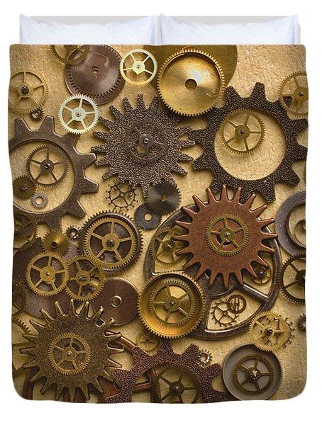 Steampunk Gears Duvet Cover