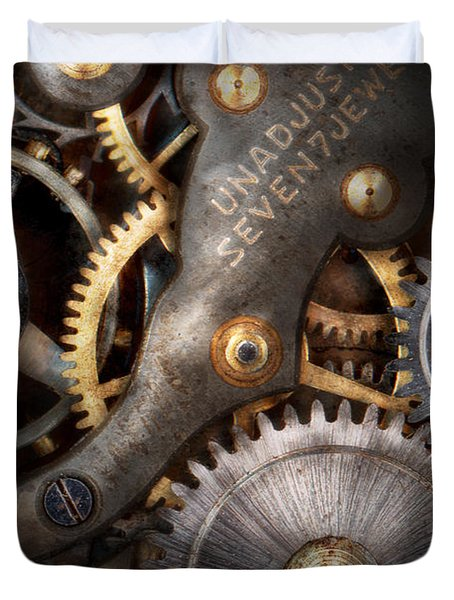 Steampunk - Gears - Horology Duvet Cover