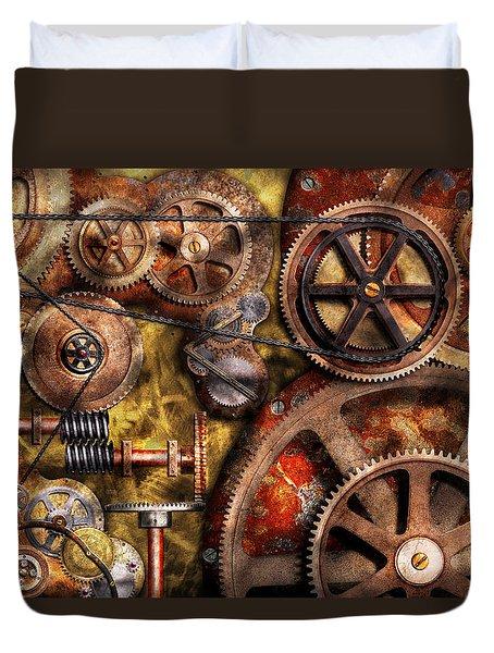 Steampunk - Gears - Inner Workings Duvet Cover