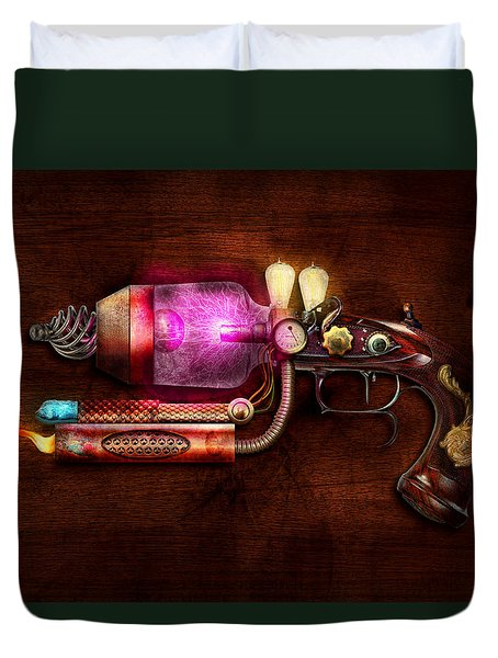 Steampunk - Gun -the Neuralizer Duvet Cover by Mike Savad