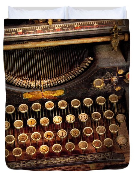 Steampunk - Just An Ordinary Typewriter  Duvet Cover