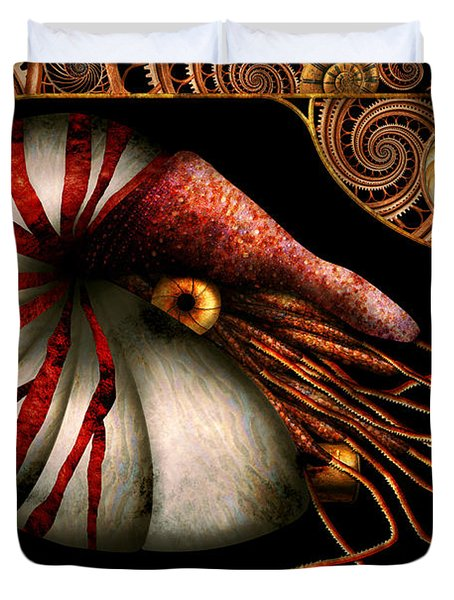 Steampunk - Nautilus - Coming Out Of Your Shell Duvet Cover by Mike Savad