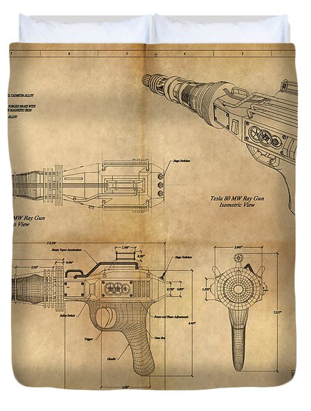 Steampunk Raygun Duvet Cover by James Christopher Hill