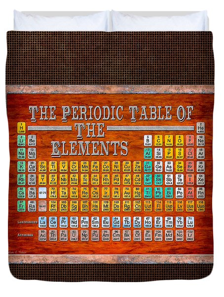 Steampunk Retro Periodic Table Duvet Cover
