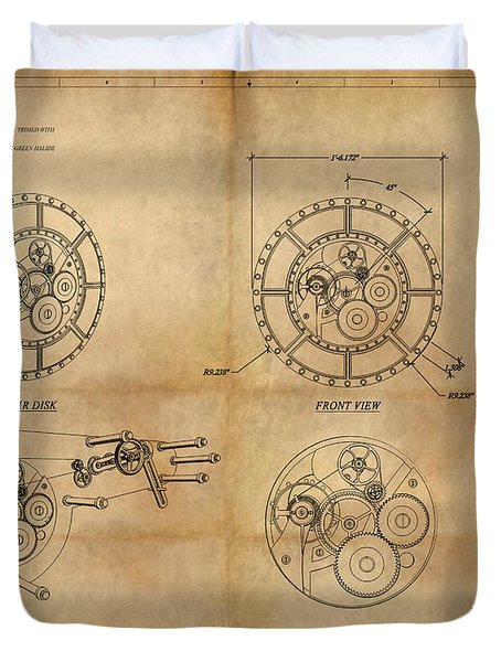 Steampunk Solar Disk Duvet Cover by James Christopher Hill