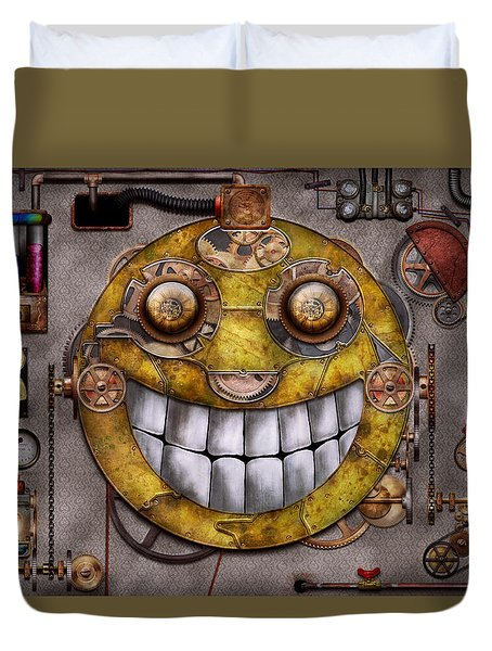 Steampunk - The Joy Of Technology Duvet Cover by Mike Savad