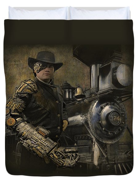 Steampunk - The Man 1 Duvet Cover