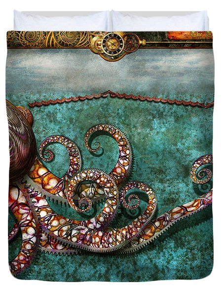 Steampunk - The Tale Of The Kraken Duvet Cover