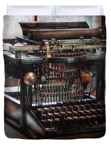 Steampunk - Typewriter - A Really Old Typewriter  Duvet Cover