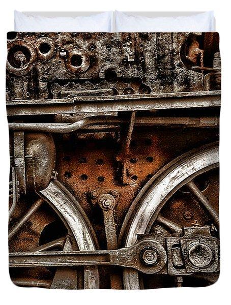 Steampunk- Wheels Locomotive Duvet Cover