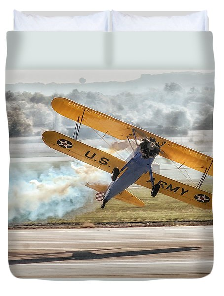 Stearman Model 75 Biplane Duvet Cover