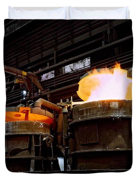 Steel Industry In Smederevo. Serbia Duvet Cover