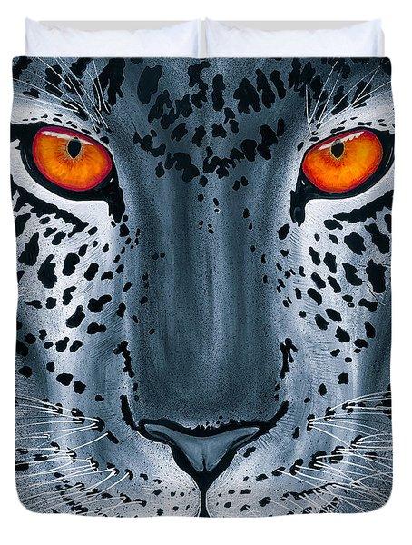 Steel Leopard Duvet Cover