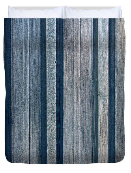 Steel Sheet Piling Wall Duvet Cover
