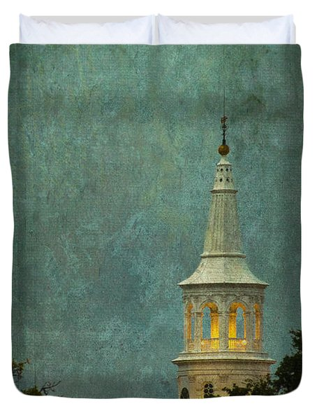 Steeple In A Storm Duvet Cover