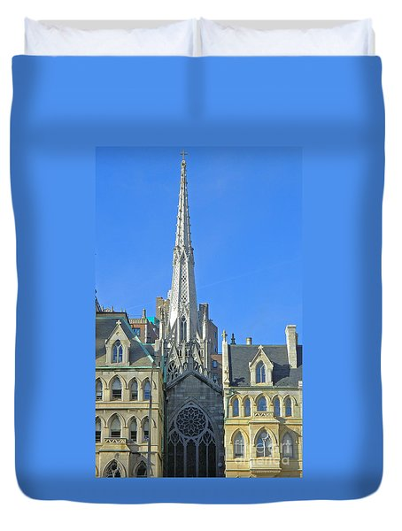 Steeple Of Grace Episcopal Church Nyc Duvet Cover