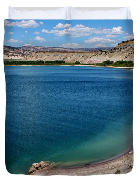 Duvet Cover featuring the photograph Steinacker Reservoir Utah by Janice Rae Pariza