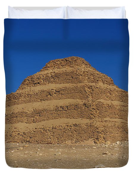 Step Pyramid Of King Djoser At Saqqara  Duvet Cover