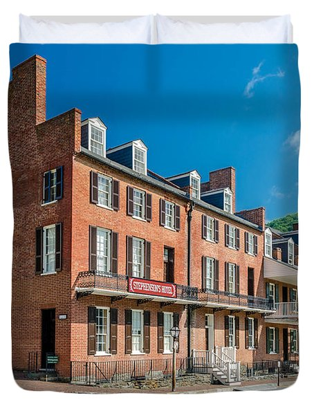 Stephenson's Hotel Duvet Cover by Guy Whiteley