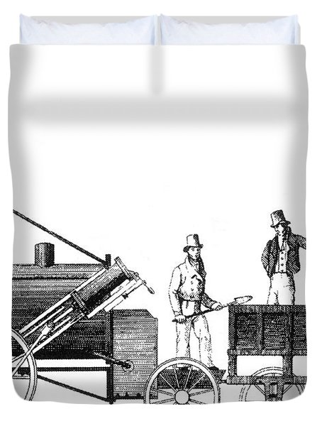 Stephensons Rocket 1829 Duvet Cover by Science Source