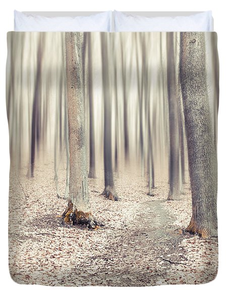 Steppin' Through The Last Days Of Autumn Duvet Cover by Hannes Cmarits