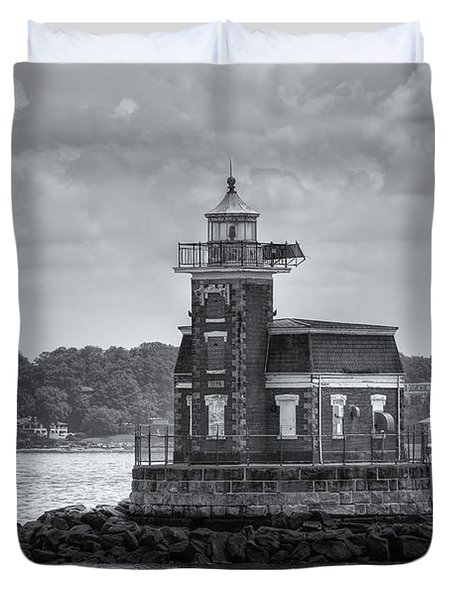Stepping Stones Lighthouse II Duvet Cover by Clarence Holmes